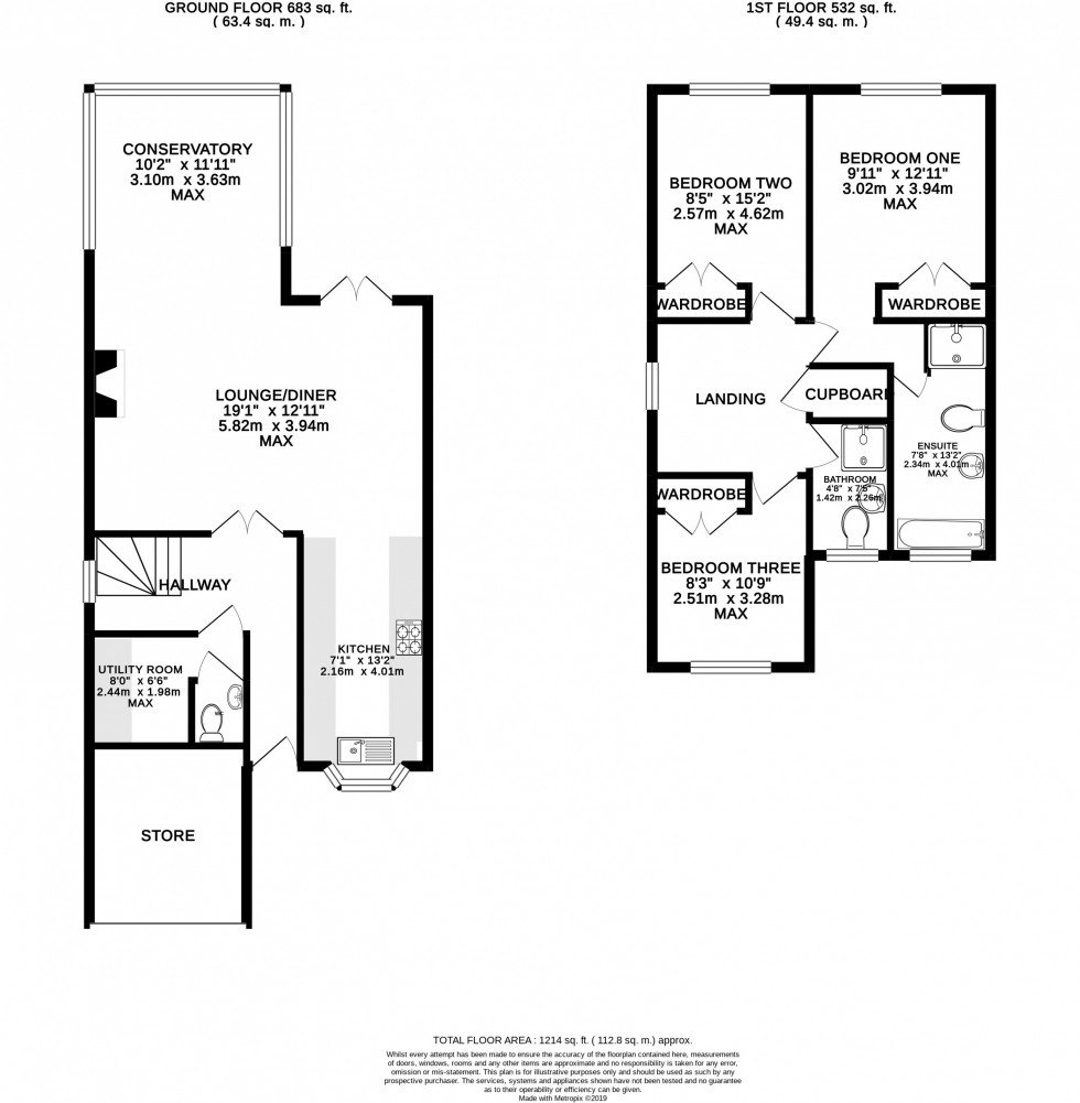 Floorplan for Crofters Close, Pickmere