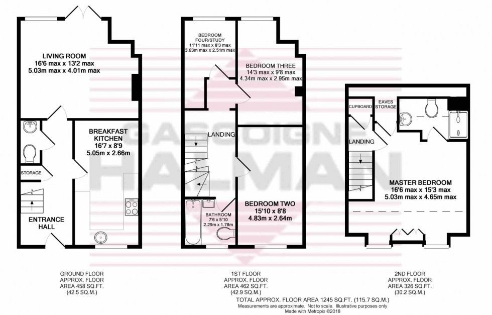 Floorplan for Appleby Crescent, Mobberley