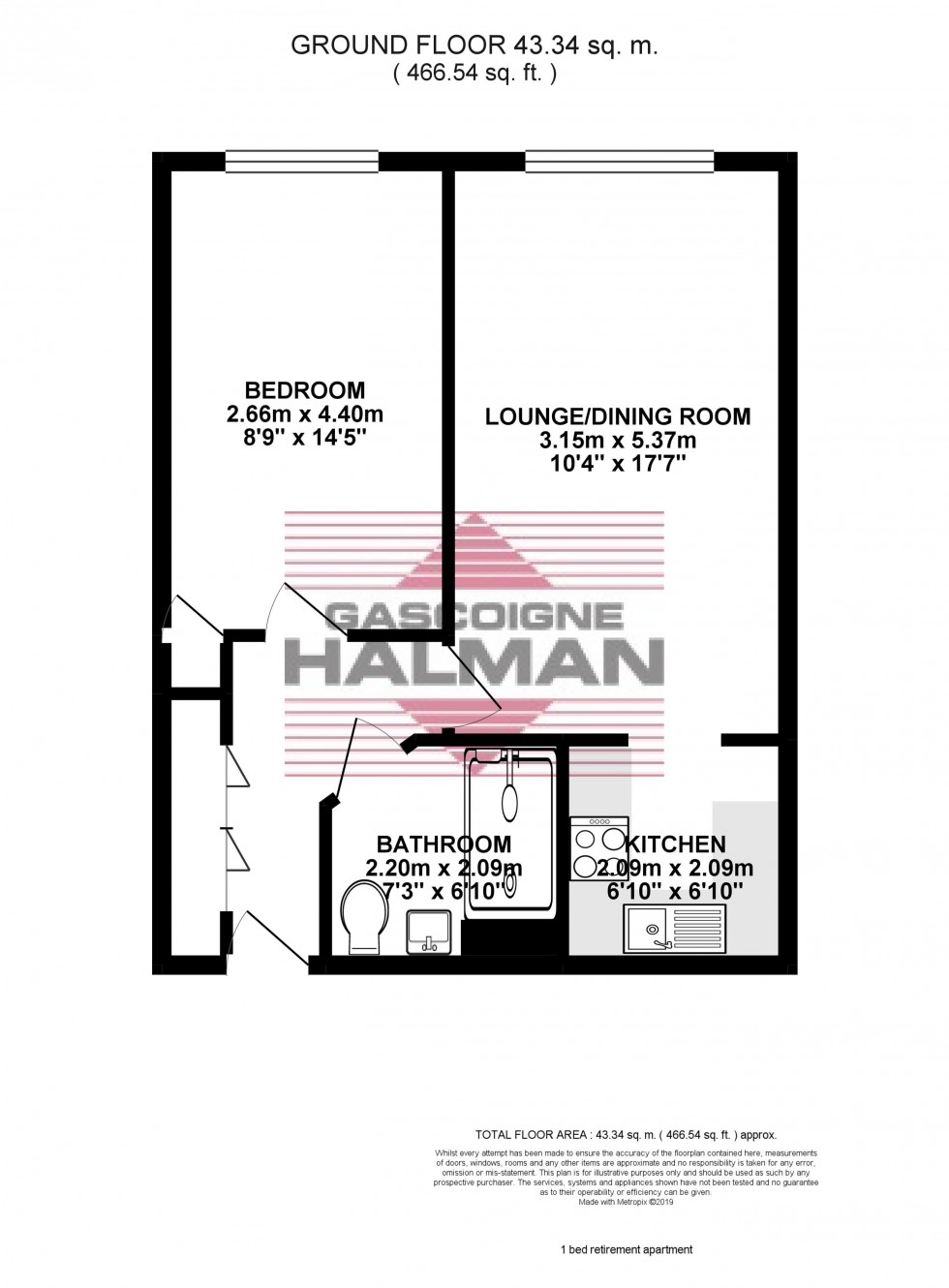 Floorplan for Beechwood, Tabley Road, Knutsford