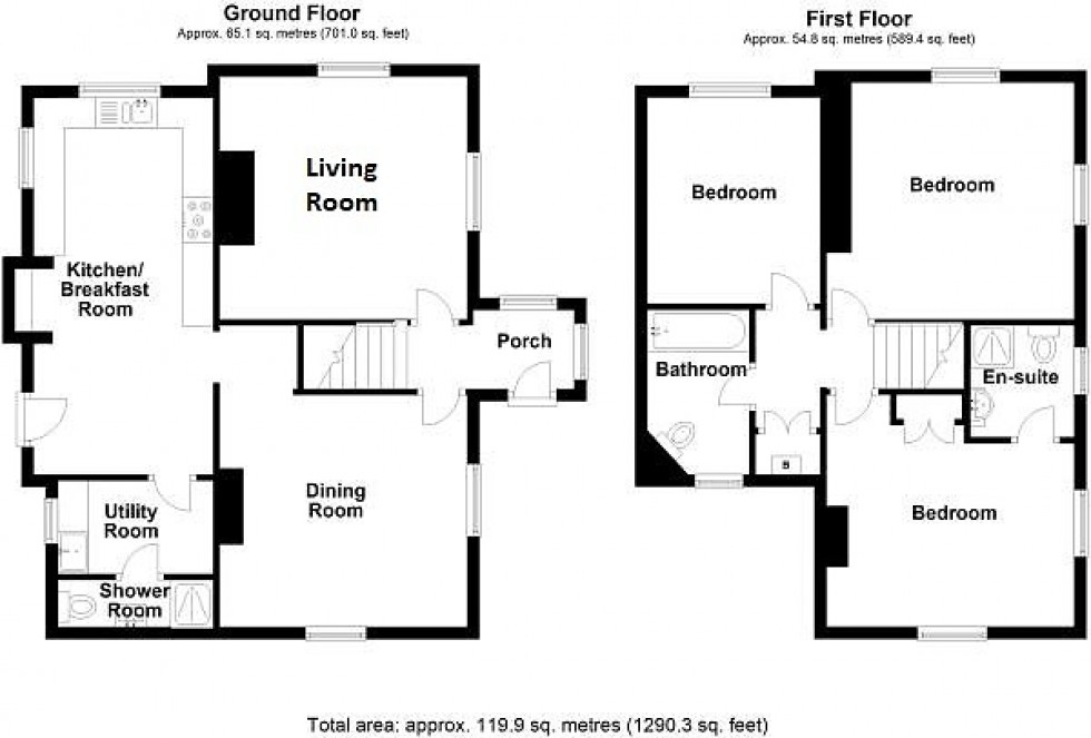 Floorplan for Hartford Road, Davenham, Northwich