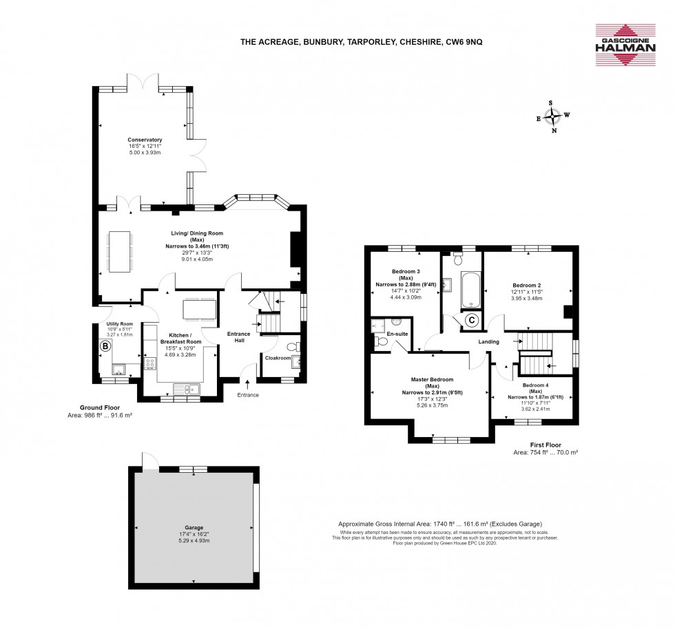 Floorplan for The Acreage, Bunbury, Tarporley