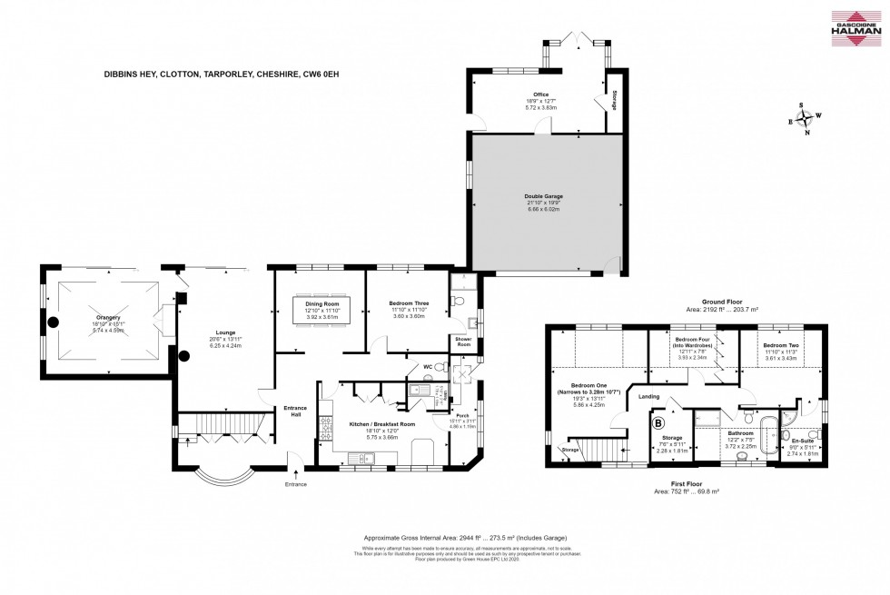 Floorplan for Clotton, Tarporley
