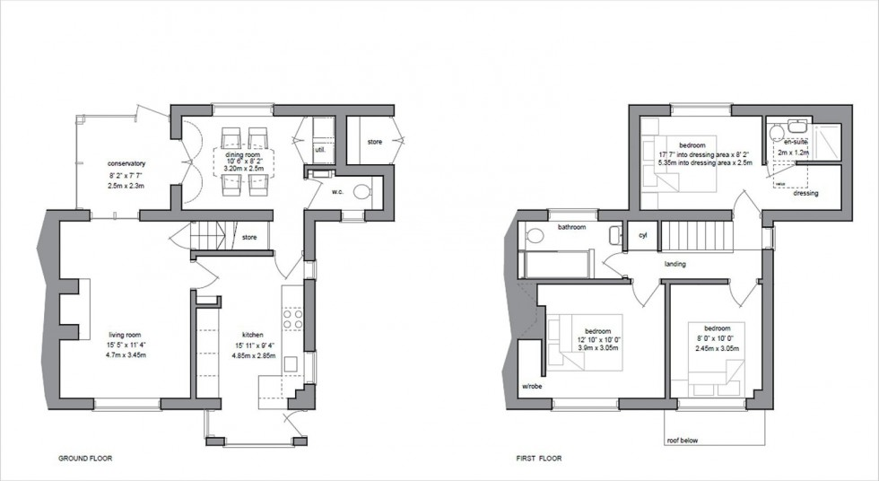 Floorplan for Small Lane, Mobberley