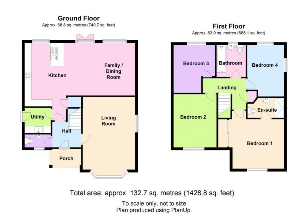 Floorplan for Georges Place, Beeston