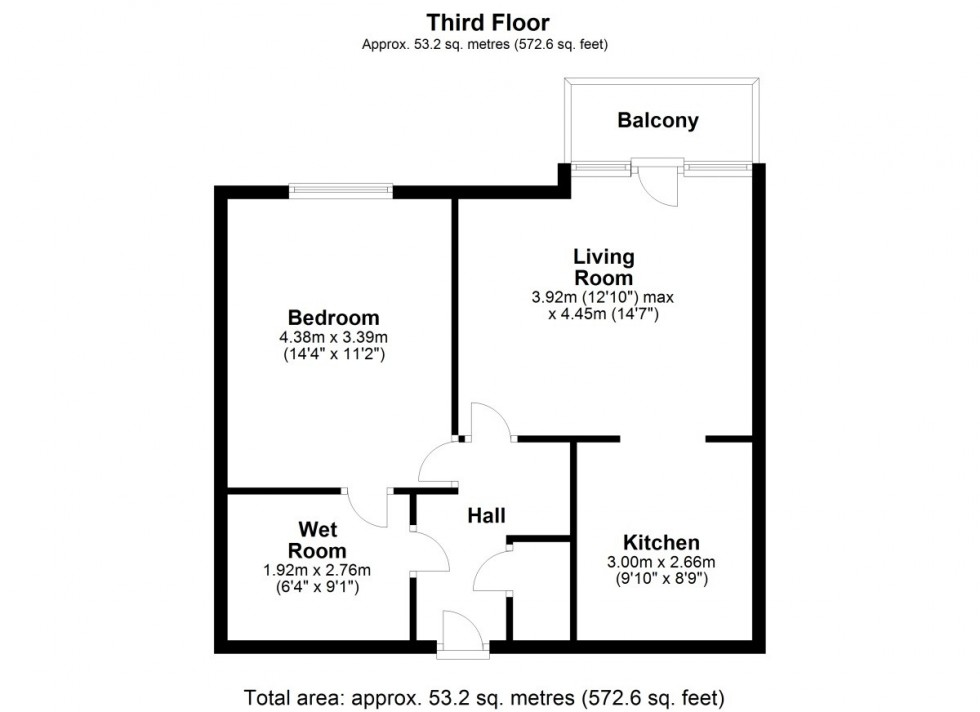 Floorplan for The Windings, Cable Drive, Helsby, Frodsham