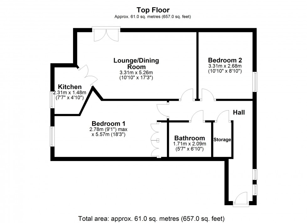 Floorplan for Chapelfields, Frodsham
