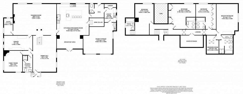 Floorplan for Swythamley Hall, Rushton Spencer