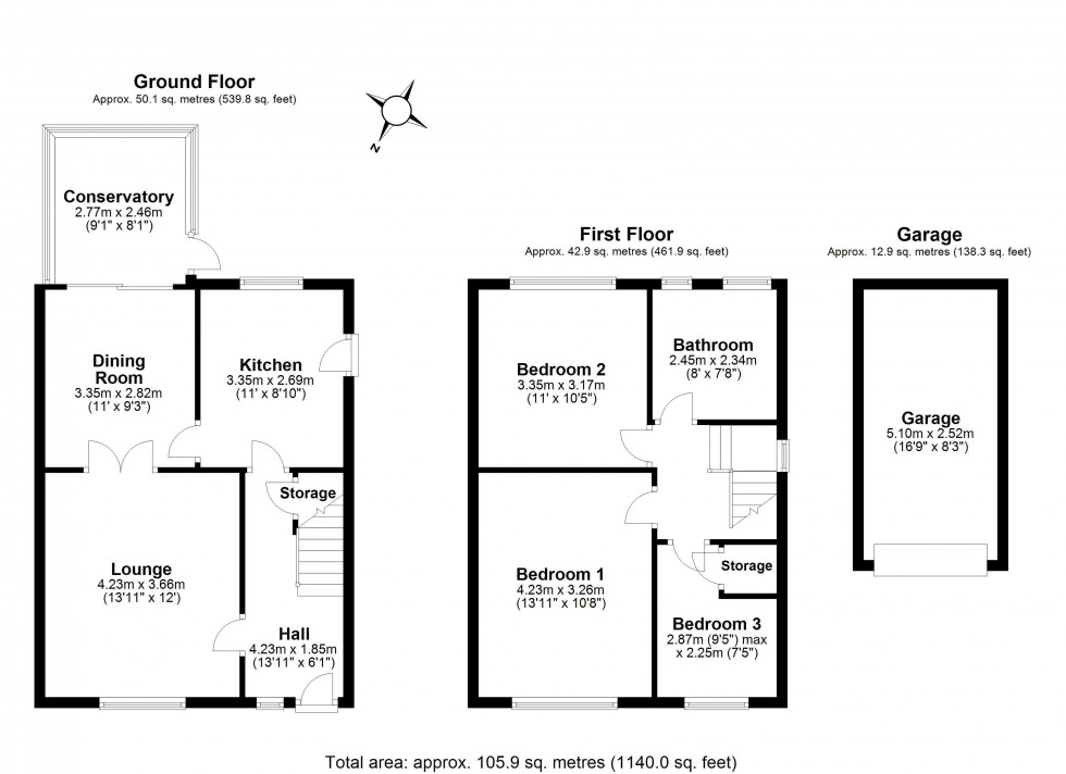 Floorplan for Silverdale Close, Frodsham