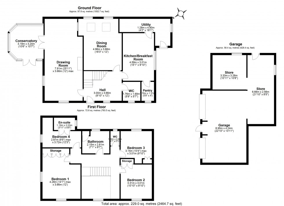 Floorplan for Cuddington Lane, Cuddington, Northwich