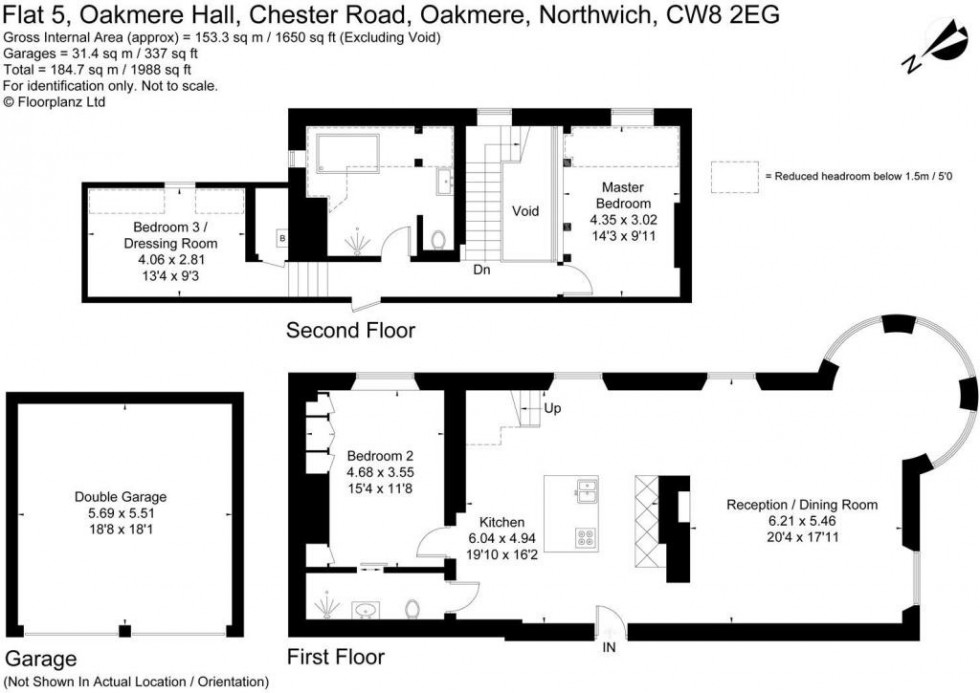 Floorplan for Oakmere Hall, Chester Road, Oakmere
