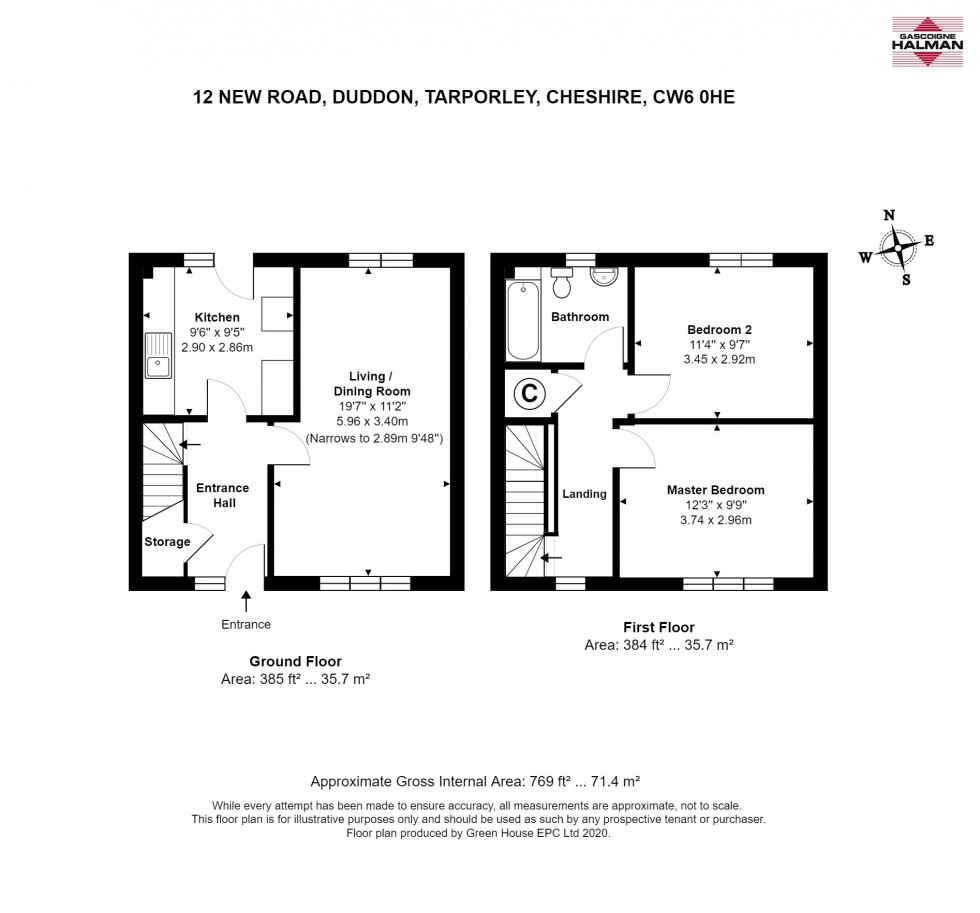 Floorplan for New Road, Duddon, Tarporley