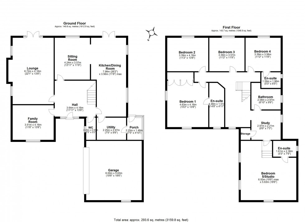 Floorplan for Howey Lane, Frodsham