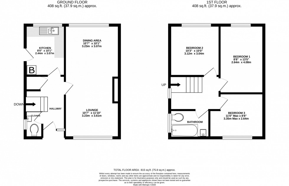 Floorplan for Sharston Crescent, Knutsford
