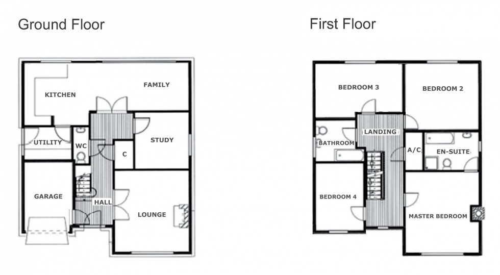 Floorplan for Weaverham Road, Sandiway