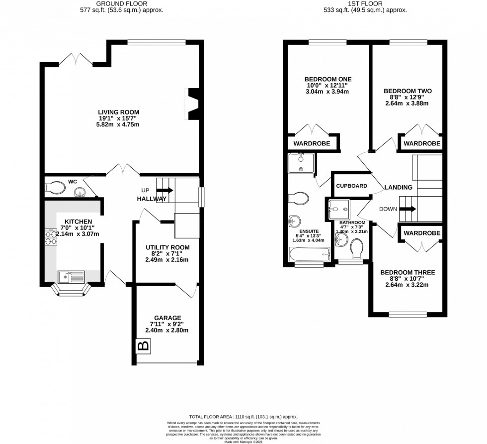 Floorplan for Crofters Close, Pickmere, Knutsford