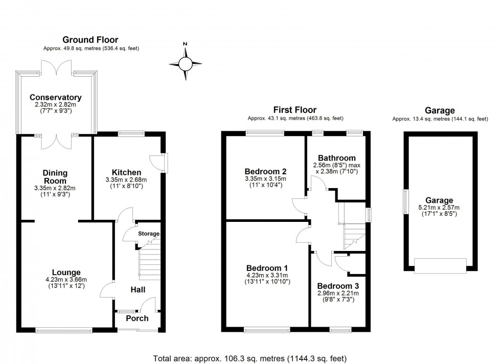Floorplan for The Willows, Frodsham