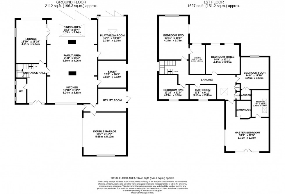 Floorplan for Meadow Drive, Prestbury