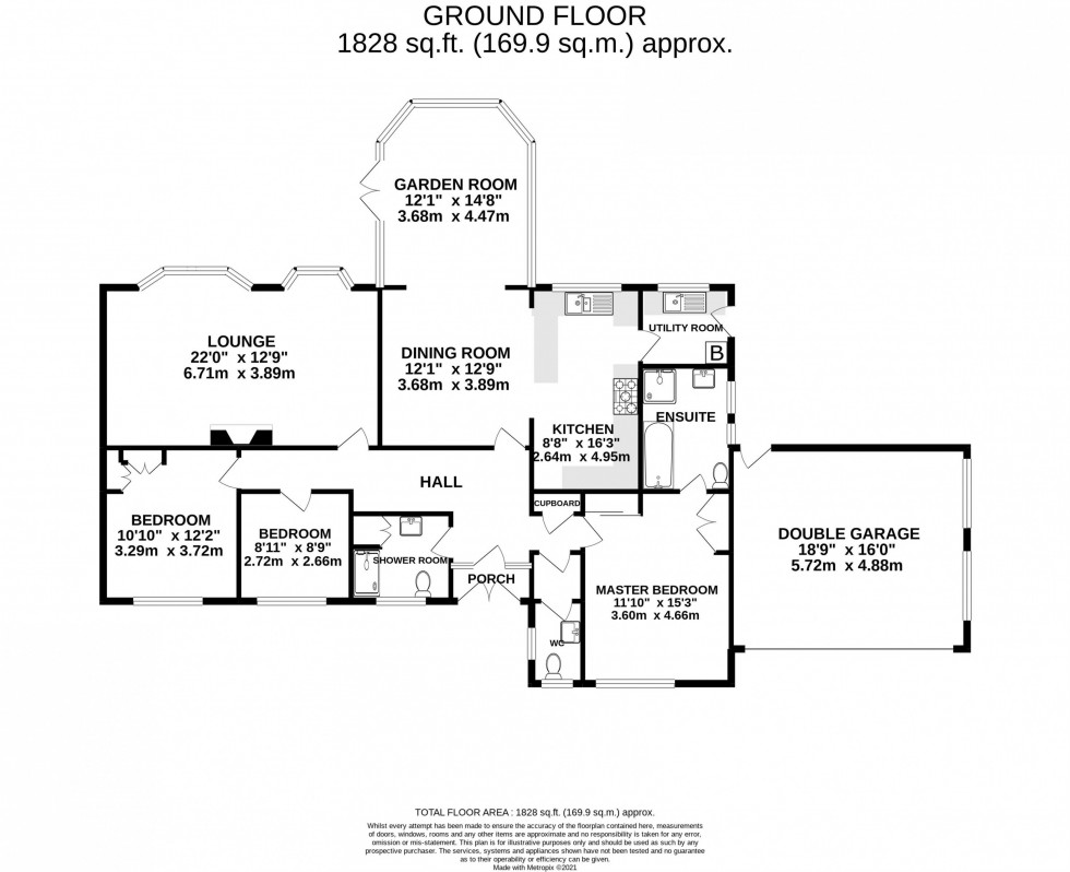 Floorplan for South Drive, Plumley