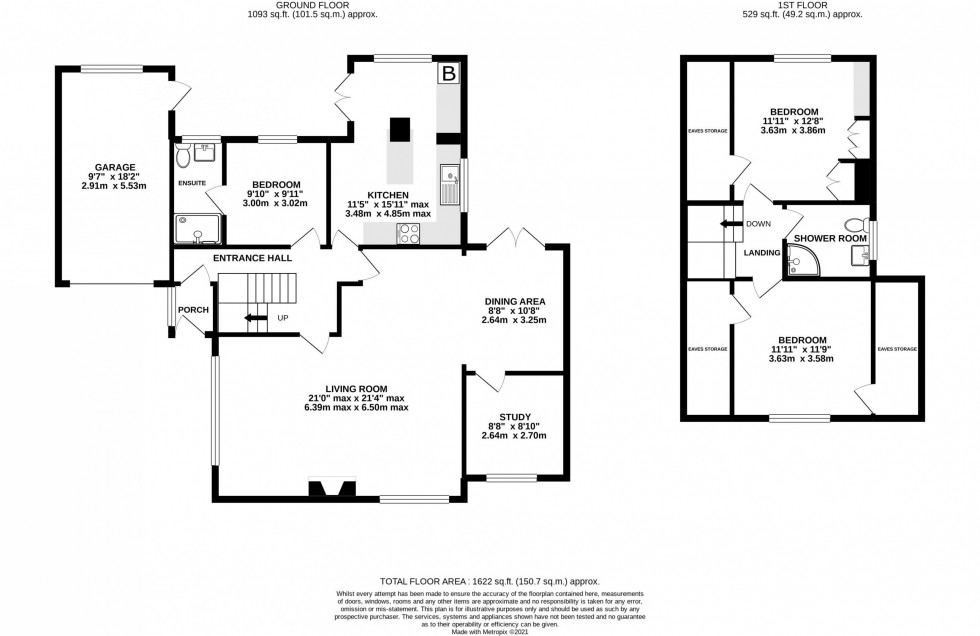 Floorplan for Yewlands Drive, Knutsford